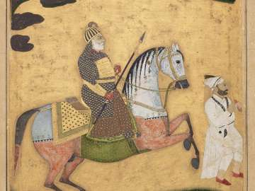 Equestrian portrait of Nawab Aliwardi Khan