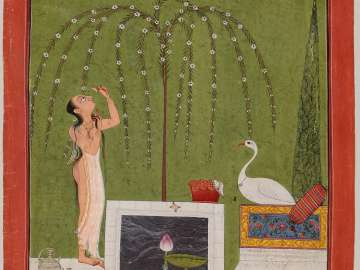 Bathing Woman and a Stork