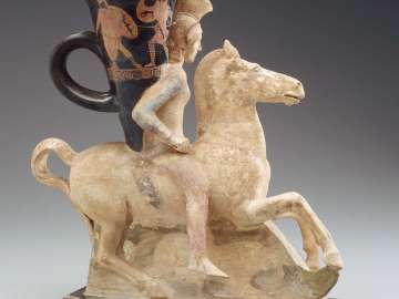 Rhyton in the form of a mounted Amazon