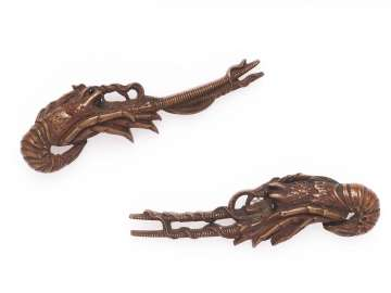 Pair of menuki in the form of two crayfish