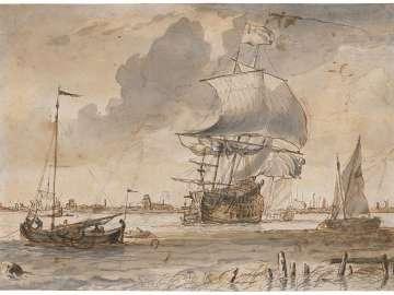 Ships in Rotterdam Harbor