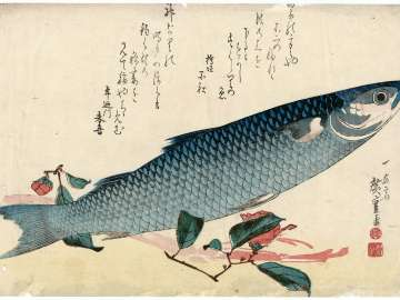 Mullet, Asparagus, and Camellia, from an untitled series known as Large Fish