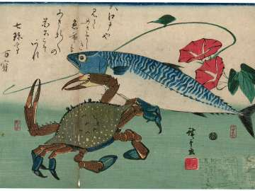 Mackerel, Crab, and Morning Glory, from an untitled series known as Large Fish