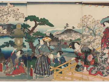 Cherry Blossoms at Genji's Rokujô Mansion (Genji Rokujô no hana)