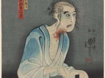 Actor Ichikawa Kodanji IV as the Ghost of Asakura Tôgo