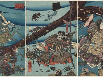 At the Bottom of the Sea in Daimotsu Bay (Daimotsu no ura kaitei no zu)