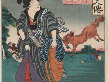 Kane-jo, from the series Lives of Remarkable People Renowned for Loyalty and Virtue (Chûkô meiyo kijin den)