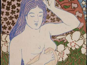 Female Nude with Flowers