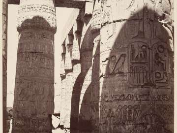 Temple of Karnak, interior of the hypostyle hall