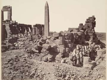 Temple of Karnak, obelisk and court