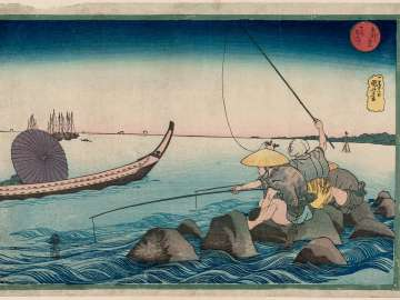Teppôzu, from the series Famous Places in the Eastern Capital (Tôto meisho)