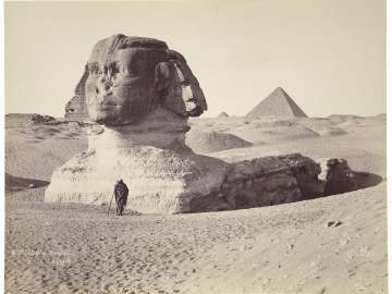 The Great Sphinx at Giza looking southwest