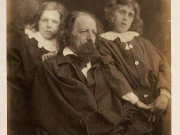 Alfred Tennyson with his sons Hallam and Lionel