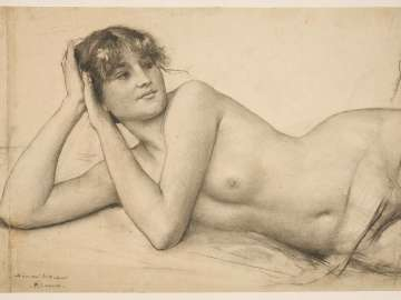 Reclining Female Nude (Study for