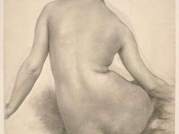 Seated Nude Woman, Seen from Behind (Study for