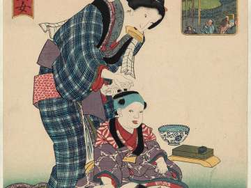 Yotsuya, from the series One Hundred Beautiful Women at Famous Places in Edo (Edo meisho hyakunin bijo)