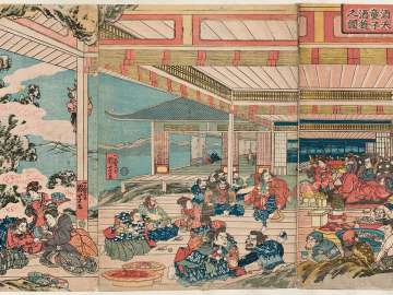 The Drinking Party of the Shutendôji at Mount Ôe (Ôeyama Shutendôji shuen no zu)