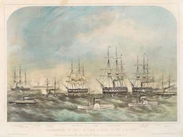 Bombardment of Forts Hatteras & Clark, By The U.S. Fleet