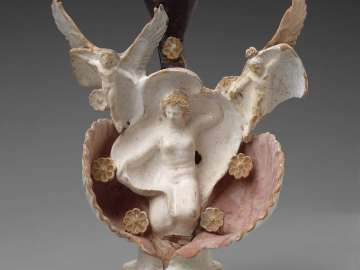 Oil flask (lekythos) in the form of Aphrodite
