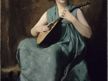 Marion Hiller Fenno at Nine as Mandolinata