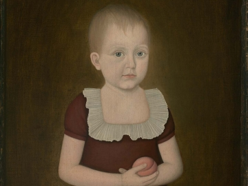 Child with a Peach