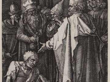 Saints Peter and John Healing the Lame Man