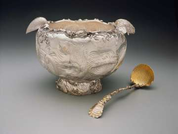 Punch bowl (set with ladle)