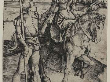 Young Lady on Horseback and Lansquenet
