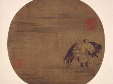Khitan falconer with horse
