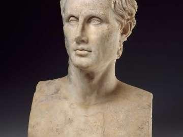 Herm-bust of Menander