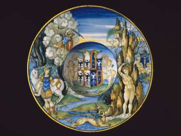 Plate depicting the story of Perseus and Andromeda from the Isabella d'Este service