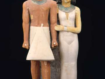 Pair statue of Ptahkhenuwy and his wife