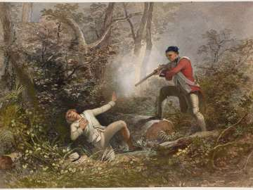 Red Coat Shooting a Colonial