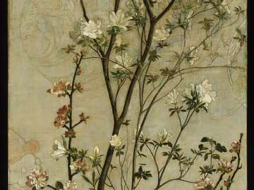Still Life with Azaleas and Apple Blossoms