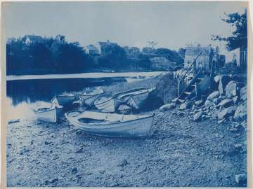 Boats Beached on the Shore of the Ipswich River