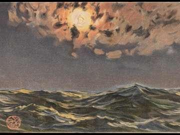 Moon on the Dark Sea