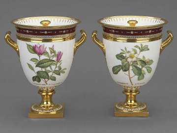 Pair of Ice-Cream Coolers from Service des plantes de la Malmaison