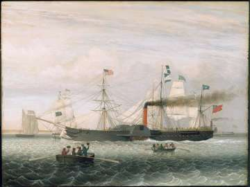The Britannia Entering Boston Harbor