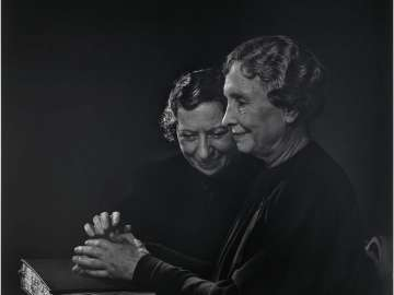 Helen Keller with Polly Thompson