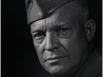Dwight D. Eisenhower (with hat)