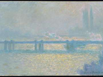 Charing Cross Bridge (overcast day), 1900