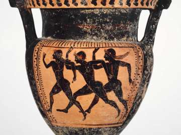 Mixing bowl (krater) with sprinters