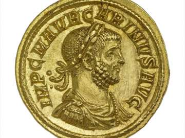Aureus with bust of Carinus