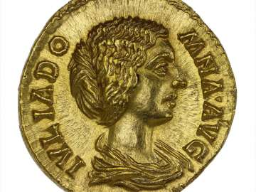 Aureus with bust of Julia Domna, struck under Septimius Severus