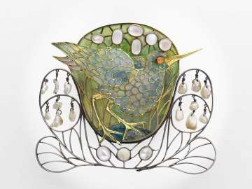 Marsh-bird brooch