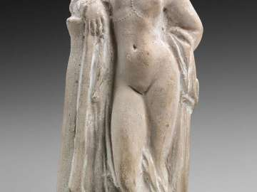 Statuette of Aphrodite leaning on a column