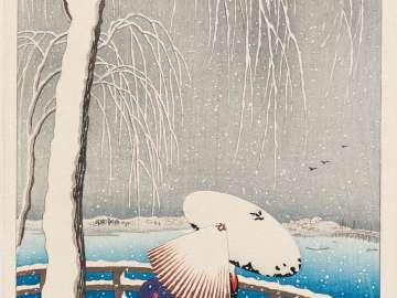 Snow at Yanagibashi