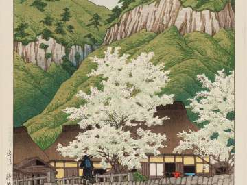 Cherry Trees at Kakise, Bungo Province (Bungo Kakise), from the series Selected Views of Japan (Nihon fûkei senshû)