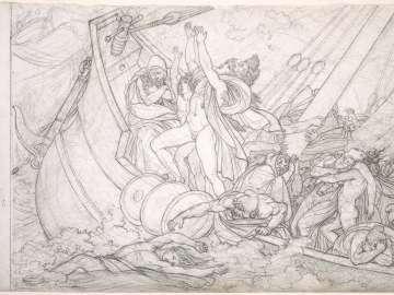Tempête (Tempest) Illustration for Virgil's Aeneid, I. 81-123