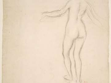 Standing Female Nude, Seen from Behind (recto and verso)